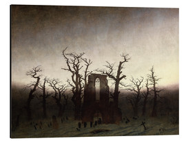 Aluminium print  The Abbey in the Oakwood - Caspar David Friedrich