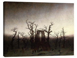 Canvas print  The Abbey in the Oakwood - Caspar David Friedrich