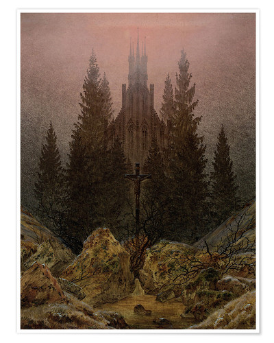 Premium poster Crucifix in Forest