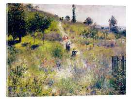 Acrylic print  Path in tall grass - Pierre-Auguste Renoir