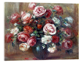 Acrylic print  Still life with roses - Pierre-Auguste Renoir