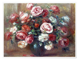 Premium poster Still life with roses
