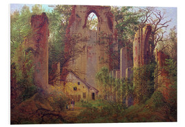 Foam board print  Abbey ruin Eldena - Caspar David Friedrich