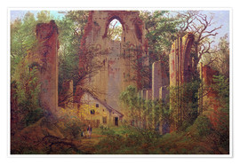 Premium poster  Abbey ruin Eldena - Caspar David Friedrich