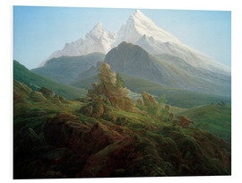 Foam board print  The Watzmann - Caspar David Friedrich