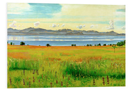 Foam board print  Lake Geneva from Saint-Prex - Ferdinand Hodler