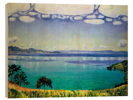 Wood print  Lake Geneva from Chexbres - Ferdinand Hodler