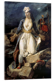 Acrylic print  Greece on the Ruins of Missolonghi - Eugene Delacroix