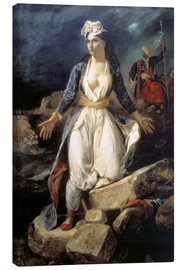 Canvas print  Greece on the Ruins of Missolonghi - Eugene Delacroix