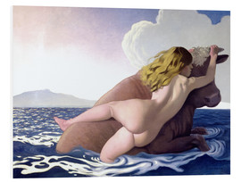 Foam board print  The Abduction of Europa - Felix Edouard Vallotton