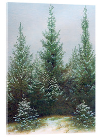 Acrylic print  Fir Trees in Snow - Caspar David Friedrich