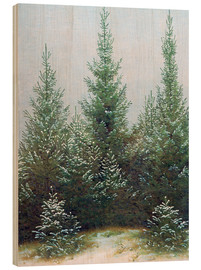 Wood print  Fir Trees in Snow - Caspar David Friedrich