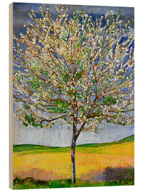 Wood  Blossoming cherry tree - Ferdinand Hodler