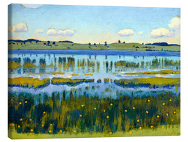 Canvas print  Shore of Äschisee Lake - Ferdinand Hodler