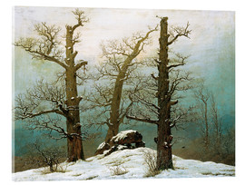 Acrylic print  Megalithic grave in the snow - Caspar David Friedrich