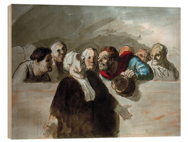 Wood print  Defense Attorney - Honoré Daumier