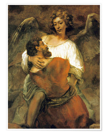 Premium poster Jacob's Battle with the Angel