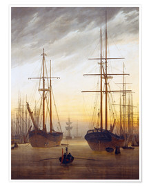 Poster View of a harbor