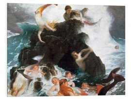 Foam board print  Game of the Naiads - Arnold Böcklin