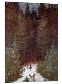 Foam board print  Chasseur in the woods - Caspar David Friedrich