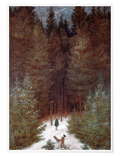 Poster Chasseur in Forest
