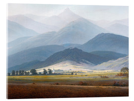 Acrylic print  Giant Mountain Landscape - Caspar David Friedrich