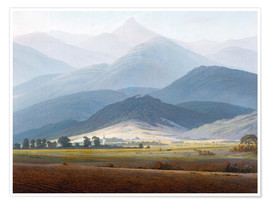 Premium poster  Giant Mountain Landscape - Caspar David Friedrich