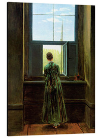 Aluminium print  Woman at the window - Caspar David Friedrich