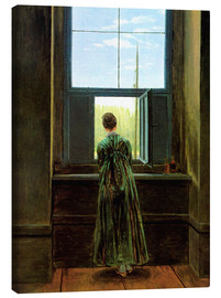 Canvas print  Woman at the window - Caspar David Friedrich