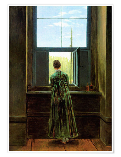 Poster Woman at the window