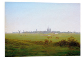 Foam board print  Meadows near Greifswald - Caspar David Friedrich
