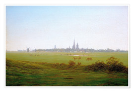 Premium poster  Meadows near Greifswald - Caspar David Friedrich