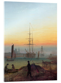 Acrylic print  Harbour of Greifswald - Caspar David Friedrich