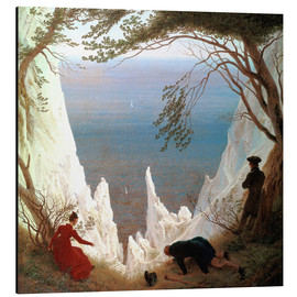 Alu-Dibond  White Cliffs of Ruegen - Caspar David Friedrich