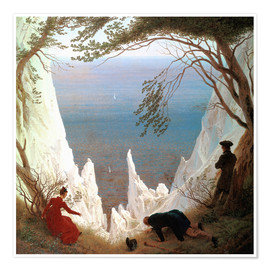 Premium poster  Chalk Cliffs on Rügen - Caspar David Friedrich
