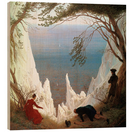 Wood print  Chalk Cliffs on Rügen - Caspar David Friedrich