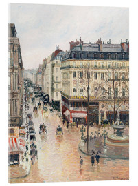 Acrylic print  The Rue Saint-Honoré in the Afternoon - Camille Pissarro