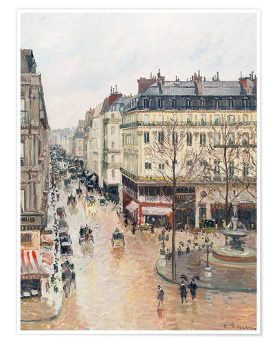 Premium poster The Rue Saint-Honoré in the afternoon