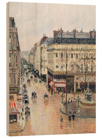 Wood print  The Rue Saint-Honoré in the afternoon - Camille Pissarro