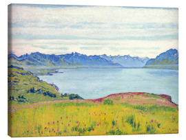 Canvas print  Landscape at Lake Geneva - Ferdinand Hodler