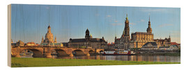 Wood print  Dresden Canaletto view - Fine Art Images
