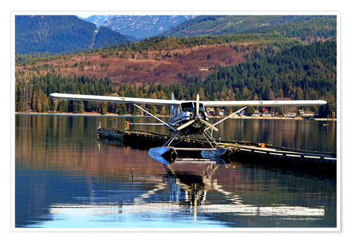 Premium poster Seaplane in Purpoise Bay, Canada