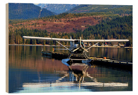 Wood print  Seaplane in Purpoise Bay, Canada - HADYPHOTO by Hady Khandani