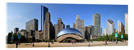 Acrylic glass  Panorama Millenium Park in Chicago mit Cloud Gate - HADYPHOTO by Hady Khandani