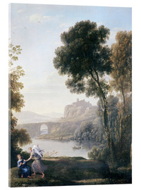 Acrylic print  Landscape with Hagar and the Angel - Claude Lorrain