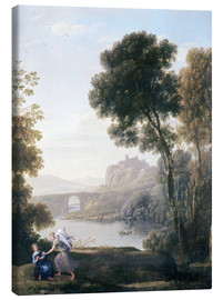 Canvas print  Landscape with Hagar and the Angel - Claude Lorrain