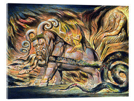Acrylic print  Chariots of Fire - William Blake