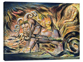 Canvas print  Chariots of Fire - William Blake