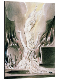 Aluminium print  The Reunion of the Soul and the Body - William Blake