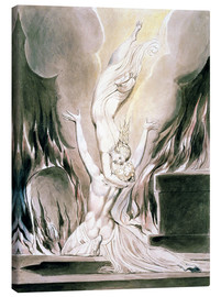 Canvas print  The Reunion of the Soul and the Body - William Blake